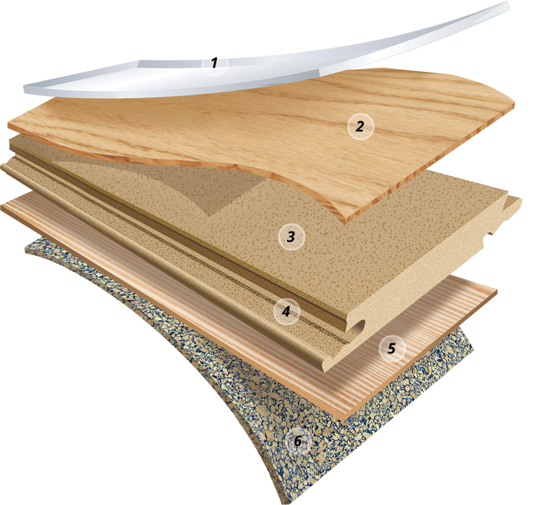 Construction Layers for TORLYS Hardwood flooring