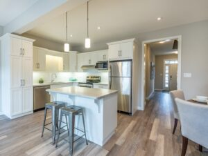 Kitchen with TORLYS EverWood Premier flooring in Beach House