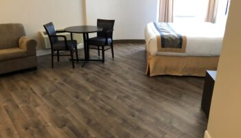hotel room with sugar hill flooring