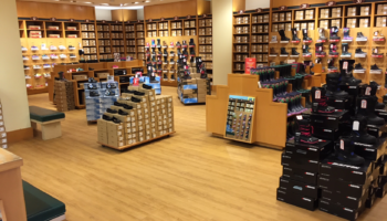 Shoe store with TORLYS EverWood Vista flooring in Sutter Creek