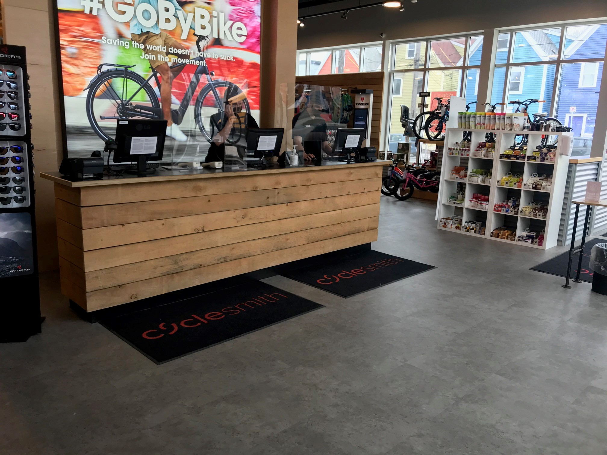 Bike store with EverTile Elite flooring in West Point